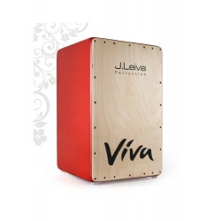 Cajon J.LEIVA Viva naturel orange avec DTS