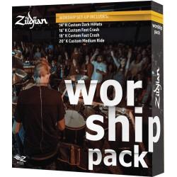 Pack cymbales Zildjian K Custom Workship KC0801W