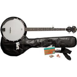 Pack banjo 5 cordes résonnateur Washburn B8K