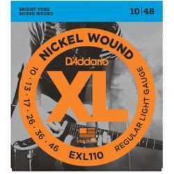 Cordes guitare électrique 10-46 Daddario EXL110