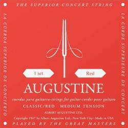 Cordes de guitare classique Augustine Rouges