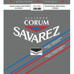 Cordes de guitare classique Savarez Corum rouge/bleues 500ARJ