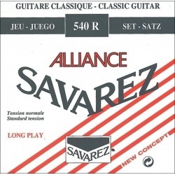 Cordes de guitare classique Savarez Alliance HT Rouge Tirant Normal 540R