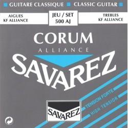 Jeu de cordes guitare classique Savarez Corum tiran fort