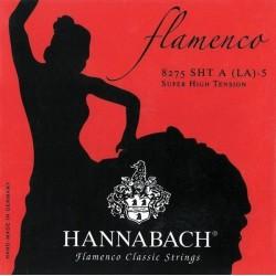 Cordes de guitare classique Hannabach 827 flamenco rouge tention très forte