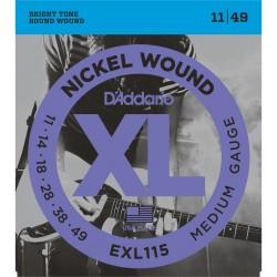 Cordes guitare électrique 11-49 Daddario EXL115