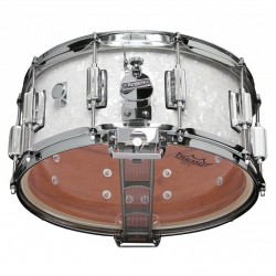 "Caisse claire Rogers Dyna-Sonic 14 x 6.5"" White Marine Pearl Beavertail"""