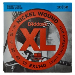 Cordes guitare électrique10-52 Daddario EXL140