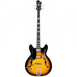 Basse électrique hollow body Hagstrom Viking Tobacco Sunburst