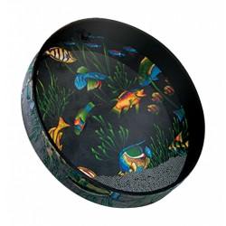 Tambour Ocean Drum Remo 12 x 2.5 pouces Fish design