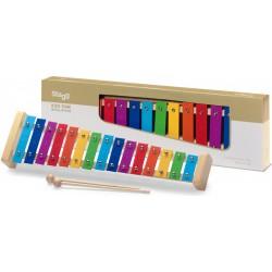Metallophone avec 15 lames de couleurs différentes
