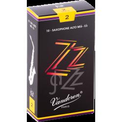 Boite de 10 anches saxophone alto Vandoren ZZ force 2