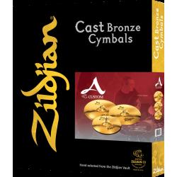 Pack cymbales Zildjian A Custom I7 avec crash 18 offerte