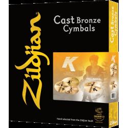 Pack cymbales Zildjian K avec crash 18 Free