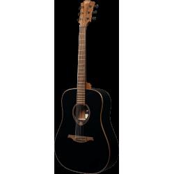 Guitare folk Lag Tramontane T118D Noire lacquée
