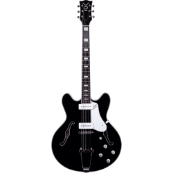 Guitare hollow body Vox Bobcat V90 Gloss Black
