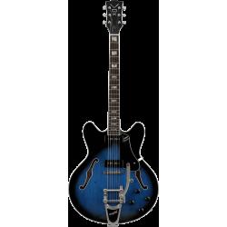 Guitare hollow body Vox Bobcat V90 Bigsby Sapphire Blue