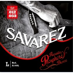 Cordes guitare acoustique phosphore bronze Savarez A140L 12-53