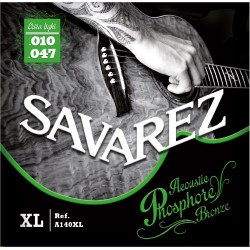 Cordes guitare folk Phosphor Bronze Savarez A140XL 10-47