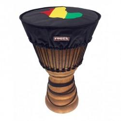 Housse couvre peau de Djembé Roots Jupe 35 à 38cm motif Afrique