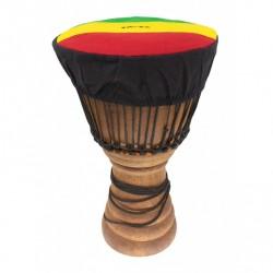 Housse couvre peau de Djembé Roots Jupe 35 à 38cm motif Rasta