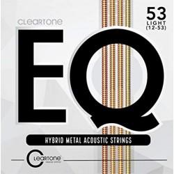 Cordes de guitare folk Cleartone EQ Hybrid 12-53