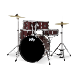 Batterie PDP by DW Center Stage PDCE2015KTRR Red Sparkle
