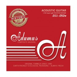 Cordes guitare folk Phosphore Bronze Adamas 1749 custom light
