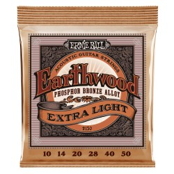Cordes acoustique Ernie Ball Earthwood phosphore bronze 10-50