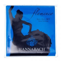 Cordes de guitare classique Hannabach 827 flamenco rouge tention forte