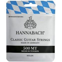 Cordes de guitare classique Hannabach 500 MT tirant medium
