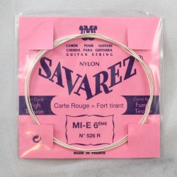 Corde guitare classique Savarez Mi 6 526R