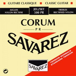 Cordes de guitare classique Savarez Corum rouge tirant normal 500PR