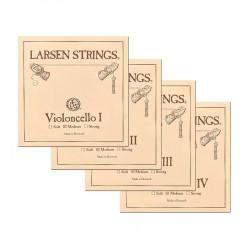 Jeu de cordes de violoncelle 3/4 Larsen tension moyenne