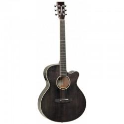 Guitare électro folk Tanglewood TW4 E Black shadow gloss