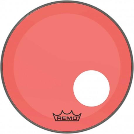 Peau Remo colortone Powerstroke 3 percée 18 pouces rouge