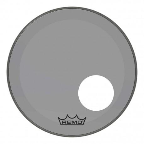 Peau Remo colortone Powerstroke 3 percée 18 pouces Smoke gris