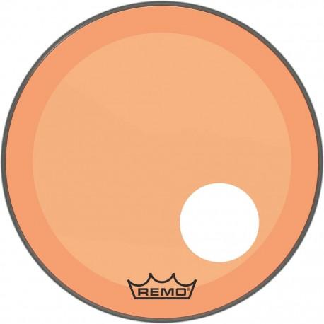 Peau Remo colortone Powerstroke 3 percée 20 pouces orange