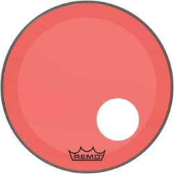 Peau Remo colortone Powerstroke 3 percée 20 pouces rouge