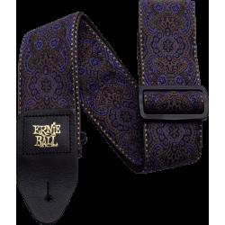 Sangle Ernie Ball jacquard purple paisley