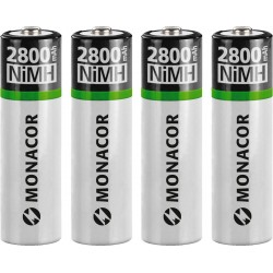 batteries rechargeables 2800mAh Monacor