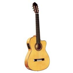 Guitare classique électro-acoustique Flamenca Esteve 15455E 5FCE Epicéa