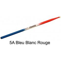 Baguettes de batterie Pro Orca Color 5A Bleu Blanc Rouge