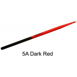 Baguettes de batterie Pro Orca Color 5A Dark red Black