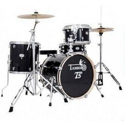 Batterie d'étude Tamburo T5 jazz junior 18 Black Sparkle