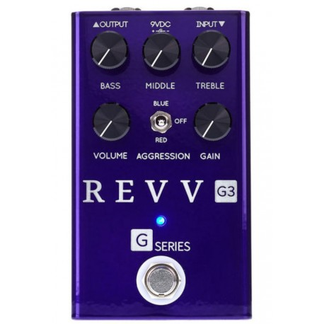 Pédale guitare Revv G3 overdrive distortion