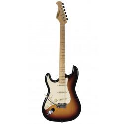 Guitare électrique gaucher Prodipe ST80LHMA sunburst
