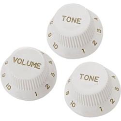 Boutons Strat - Par 3 blanc (1 Volume et 2 Tone)
