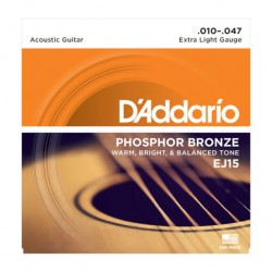 Cordes guitare acoustique phosphor bronze EJ15