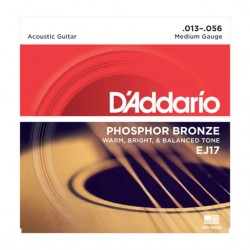 Cordes guitare acoustique Daddario phosphor bronze Medium 13-56